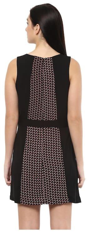 Allen Solly Polyester Printed Bodycon Dress Black