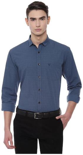 Men Slim Fit Polka Dots Casual Shirt