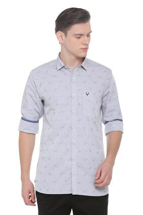 Allen Solly Men Regular Fit Casual shirt - Grey