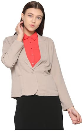 Women Polyester Regular FIt Blazer