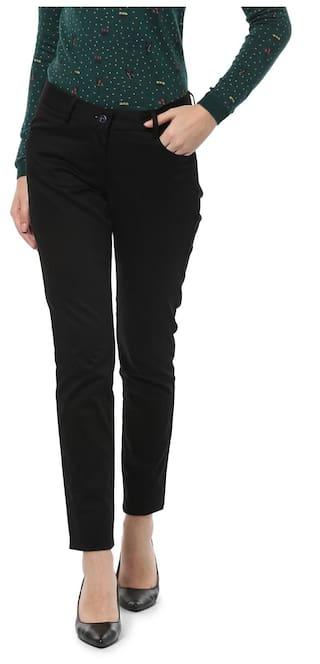 Allen Solly Black Trousers
