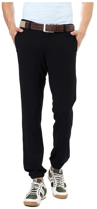 b7edb5eb3c6 Buy Allen Solly Black Wimbledon Jogger Pants Online at Low Prices in ...