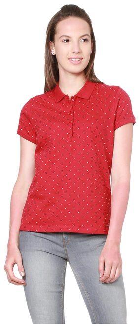 Allen Solly Blended Regular Red TShirt
