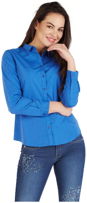 Allen Solly Cotton Regular Blue Casual Shirts