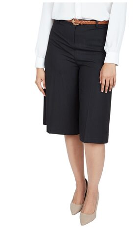 Allen Solly Blended Regular Black Casual Trouser