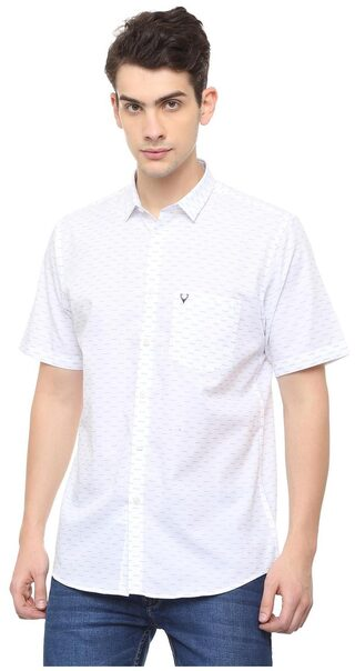 Allen Solly Men Slim Fit Casual shirt - White