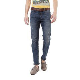 Allen Solly Cotton Skinny Blue Jeans & Jeggings
