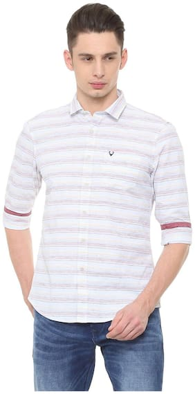 Men Regular Fit Horizontal Stripes Casual Shirt
