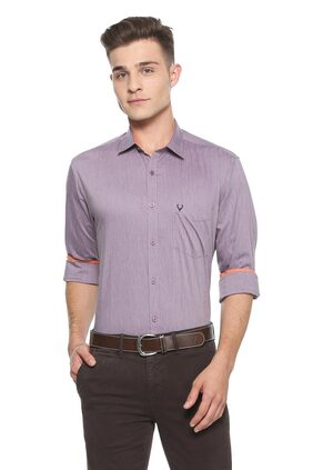 Allen Solly Men Slim Fit Casual shirt - Purple