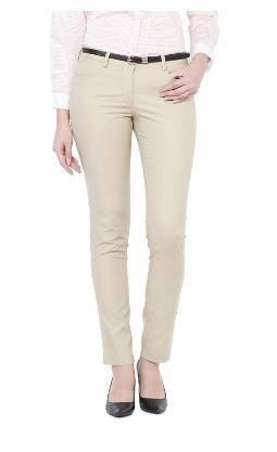 Allen Solly Women Regular Fit Mid Rise Solid Pants - Green