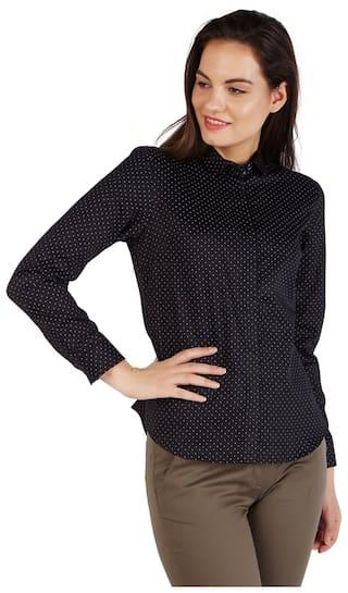 Allen Casual Cotton Solly shirts Regular Black O4rO8Wq1