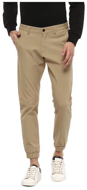 Allen Solly Men Blended Track Pants - Brown
