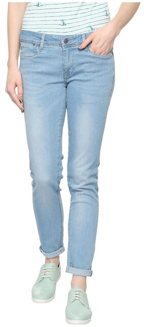Allen Solly Women Slim Fit Mid Rise Washed Jeans - Blue
