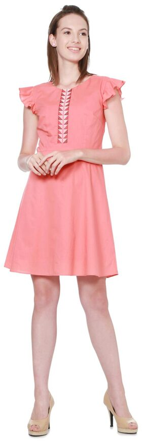 Allen Solly Solid Bodycon Dress Dress - Pink