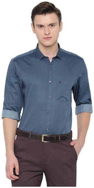 Allen Solly Men Blue Printed Slim Fit Casual Shirt