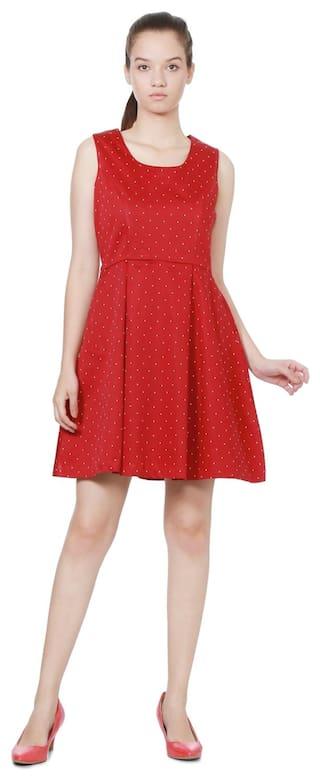 Cotton Allen Regular Red Solly Dress 1WAqFWH