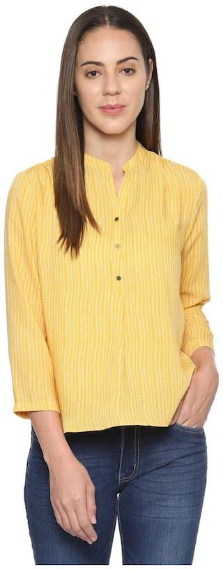 Allen Solly Women Solid Regular top - Yellow