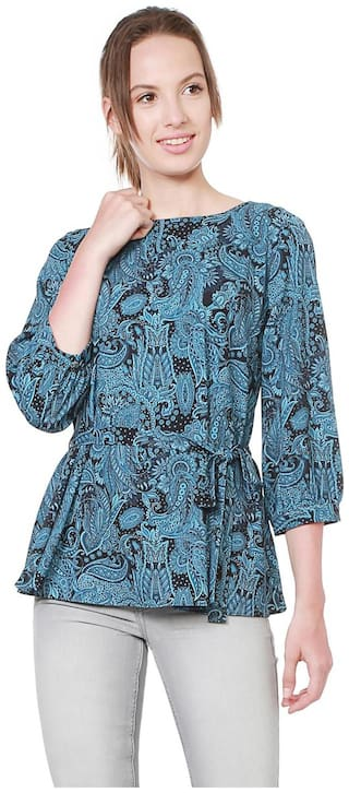 Allen Solly Women Printed Regular tunic - Blue
