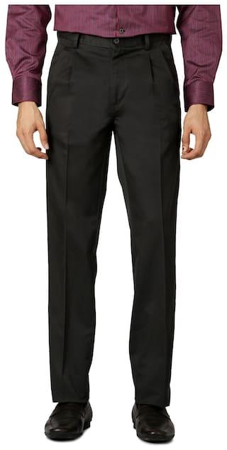 Allen Solly Cotton Regular Grey Formal Trouser