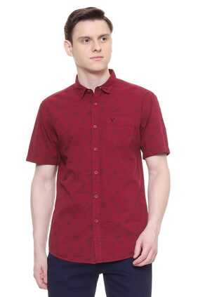 Allen Solly Men Slim Fit Casual shirt - Red