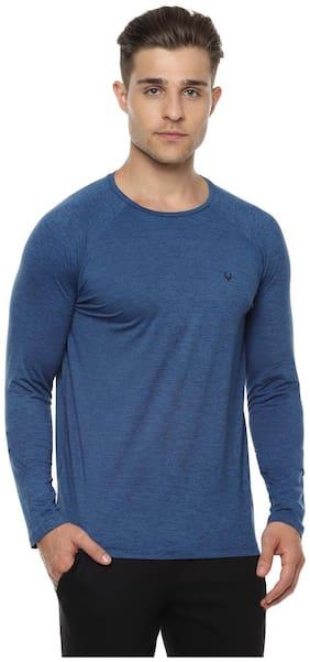 Men Crew Neck Self Design T-Shirt