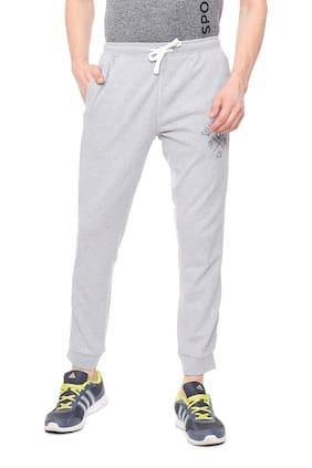 Allen Solly Men Cotton Blend Track Pants - Grey