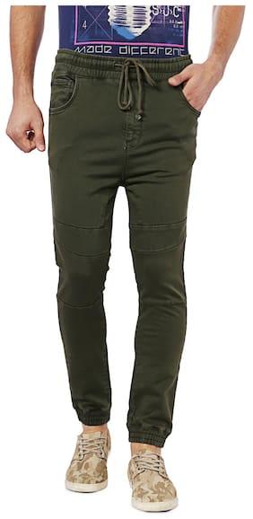 Allen Solly Men Cotton Track Pants - Green