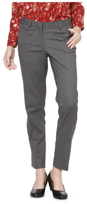 Allen Solly Grey Trousers