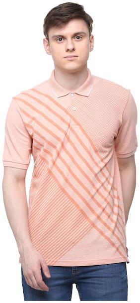 Men Polo Collar Printed T-Shirt