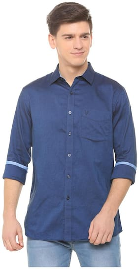 Men Slim Fit Weaved Casual Shirt Pack Of 1