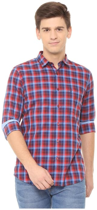 Allen Solly Men Multi Checked Slim Fit Casual Shirt