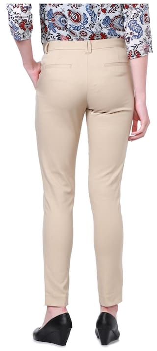 Allen Beige Regular Solly Casual Blended Trouser wqg6w8B