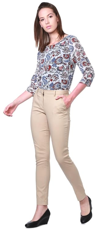 Regular Blended Trouser Beige Allen Casual Solly EgwqxpS