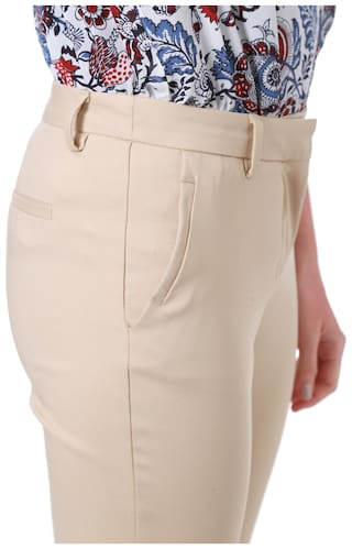 Allen Beige Blended Regular Casual Trouser Solly tgrqRwnt