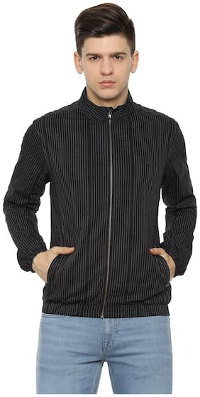 Men Cotton Blend Long Sleeves Jacket