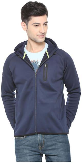 Allen Solly Men Polyester Sweatshirt - Blue