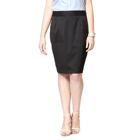 Allen Solly Grey Polyester Skirts