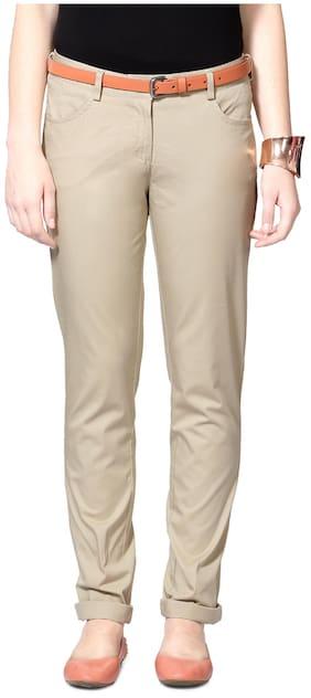 Allen Solly Beige Cotton Trouser