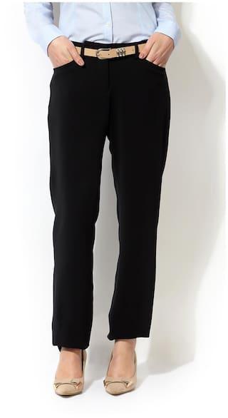 Allen Polyester Allen Solly Black Solly Trouser 5YHYOq7x