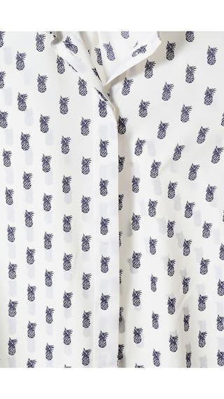 Allen Solly Shirt Polyester Polyester White Shirt Solly White Allen zx7xInv