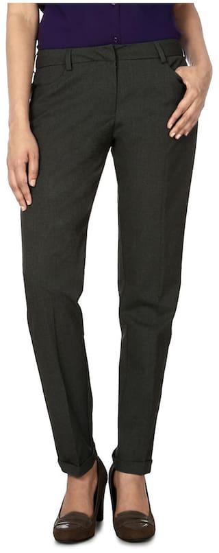 Allen Solly Grey Polyester Trouser