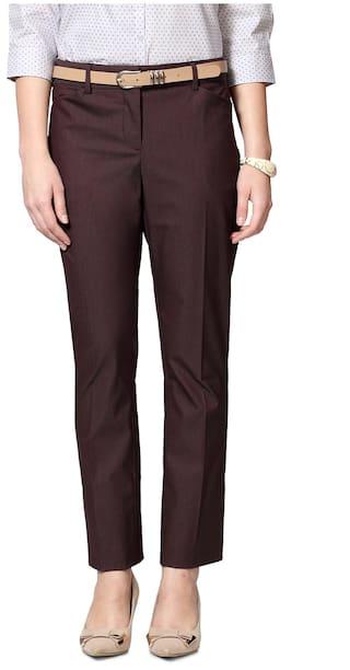 Allen Solly Brown Cotton Trouser