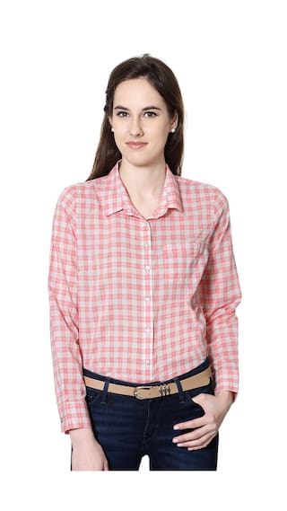 Allen Solly Pink Cotton Casual Shirt