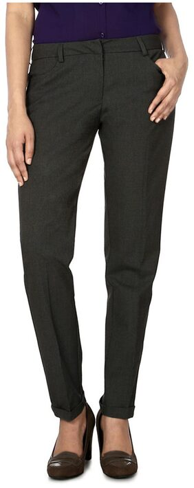 Allen Solly Grey Polyester Trouser