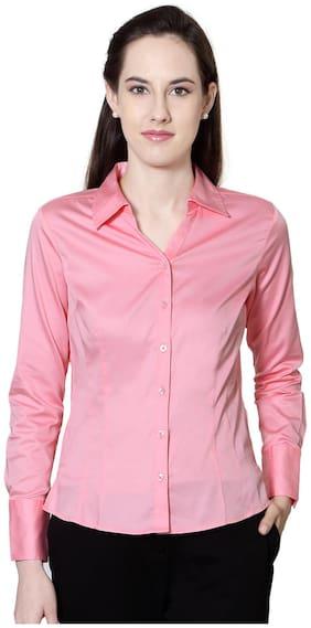 Allen Solly Pink Cotton Formal Shirt