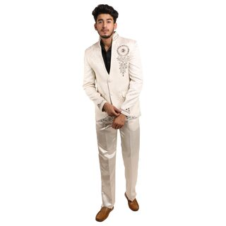 Amaanee By Redson Wedding Embridered Cream color suit(38 Upper//32 Lower(Pants))