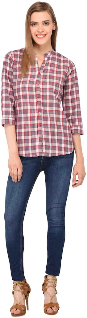 Amadore Women Regular fit Checked Shirt - Multi