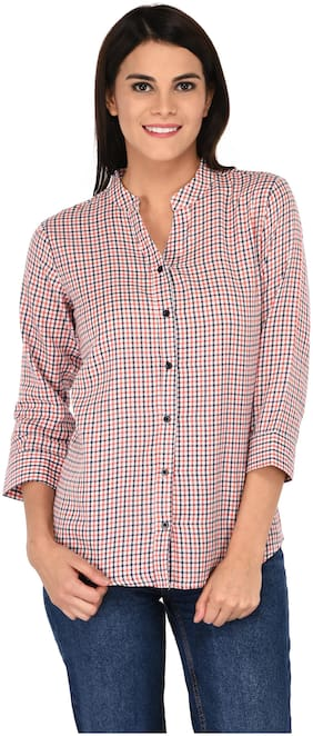 AMADORE - GIFT OF LOVE Women Regular Fit Checked Shirt - Multi