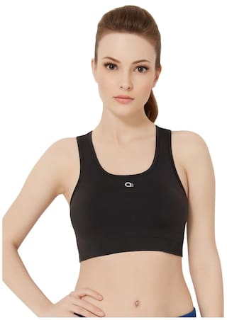 4979d81d74 Buy amante Black Non-Padded Non-Wired Reversible sports bra Online ...