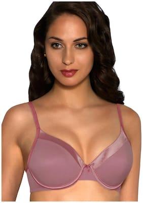 Amante Pink Satin Edge Padded Underwired Bra